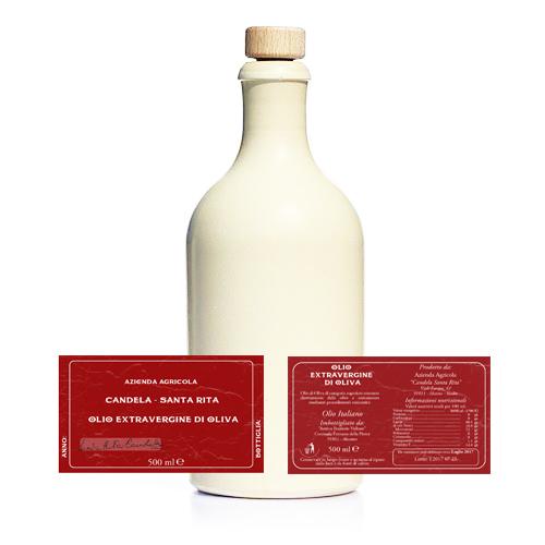 bottiglia-ed-etichette-candela-santa-rita-olio-extravergine-di-oliva